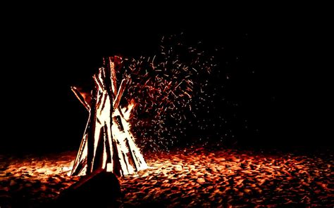 beach bonfire photo photoatbstrakt
