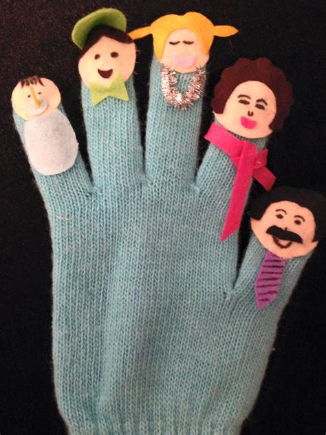 How To Make A Puppet Out Of A Paper Bag - how to make finger puppets out of a clear glove for