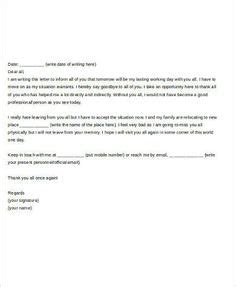 sle email to forward resume farewell letter to colleagues sle farewell letter