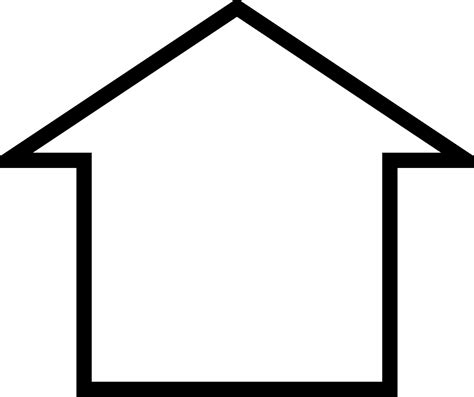 house outline clipart simple house icon