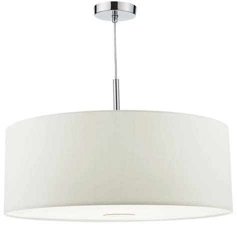 60cm drum l shade dar ronda 60cm white drum shade 3 light pendant with