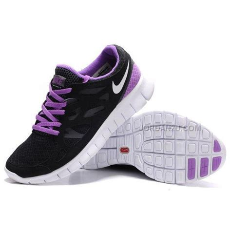 nike free run 2 womens running shoes black purple on sale