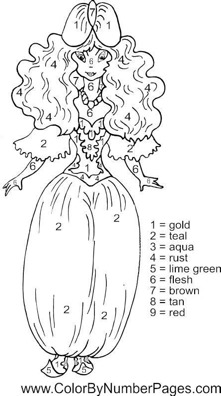 princess coloring pages by numbers coloring pages princess color by number page kids