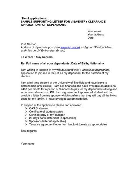 Support Letter For Work Visa Application Cover Letter Sle For Uk Visa Application Free