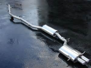 Audi A4 Exhaust System Milltek Non Resonated Louder Cat Back Exhaust System For