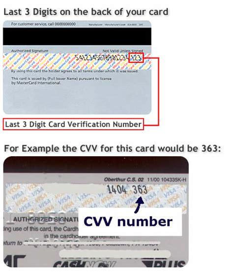 Sle Credit Card Cvv Number Cvv Number Exles