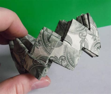 How To Make Money Out Of Paper - dollar origami bracelet