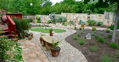 xeriscaped backyard design reflections on a xeriscape central texas gardening