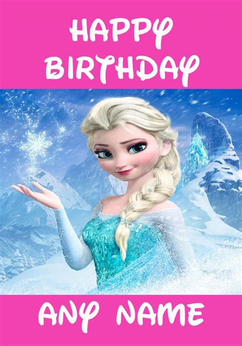 printable birthday cards elsa 7 best images of disney frozen printable birthday cards