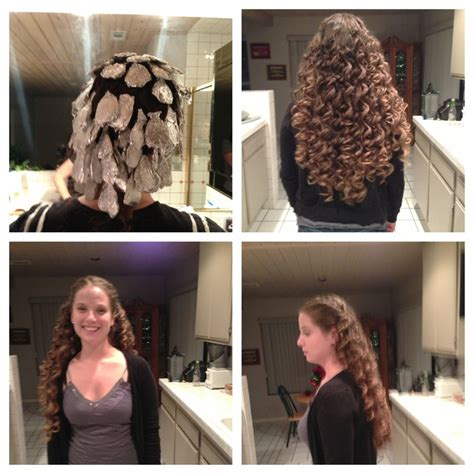 where to place your foils in hair foil curls yes they work section hair curl around