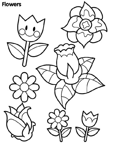 coloring pages may flowers 春天的花朵 crayola cn