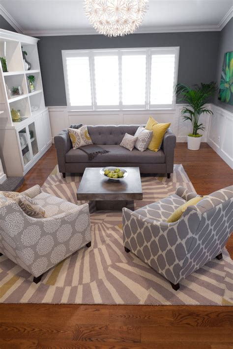 Living Room In Grey And Yellow Eye For Design Decorating With The Grey And Yellow Color