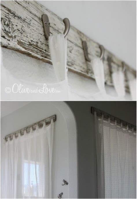 diy curtain rods  hooks  give  gorgeous style