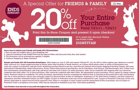 Disney Outlet Printable Coupons | disney store coupons coupon for shopping