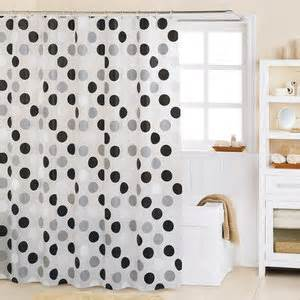 Black And White Bathroom Shower Curtain Black And White Shower Curtains 2