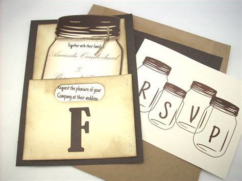 mason jar templates for invitations mason jar wedding invitation personalized by scrappingoodtimes