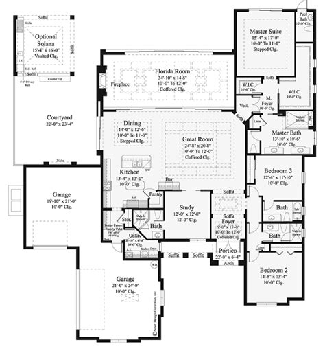 Open Floor Plans One Story by Open Floor Plans For Single Story Mediterranean Modern