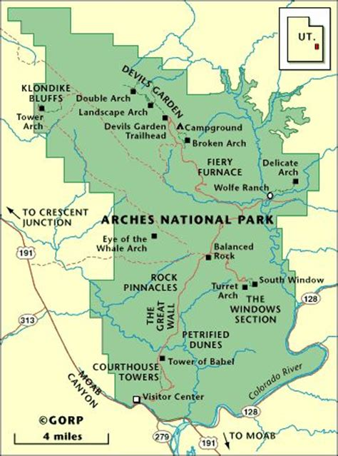 arches national park map 17 best images about arches national park maps on other arches and the o jays