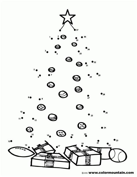 connect the dots christmas tree coloring pages connect the dots coloring home