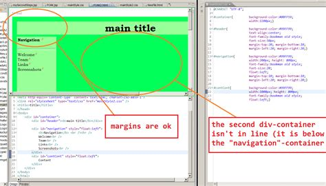 html layout editor eclipse css eclipse web page editor div s not in line stack