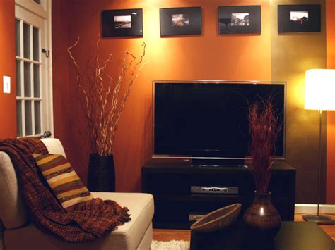 Burnt Orange Living Room Walls by Alex S Design Portfolio Hgtv Design Hgtv