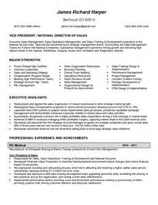 Medical Device Resume Examples Vp Sales Resume Sales Sales Lewesmr