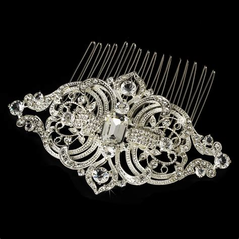 vintage wedding hair combs royal silver vintage rhinestone bridal hair comb comb 8356