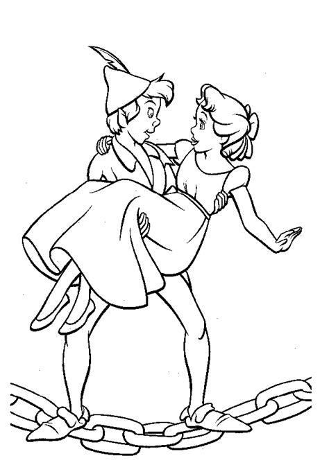coloriage à dessiner peter pan clochette