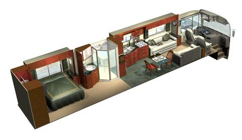 home design 3d trailer 3d cutaway of custom designed luxury rv full interior rear