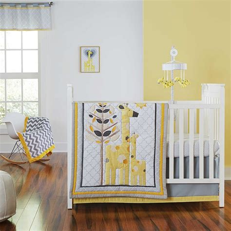 Happy Chic Baby Safari Giraffe 4 Piece Crib Bedding Set By Giraffe Nursery Bedding Set
