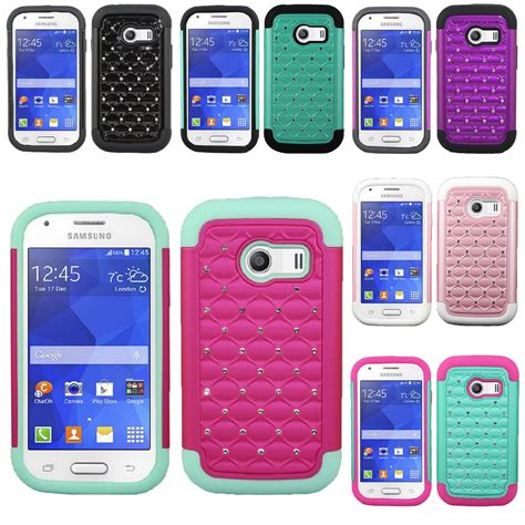 for samsung galaxy ace style s765c hybrid hard diamond