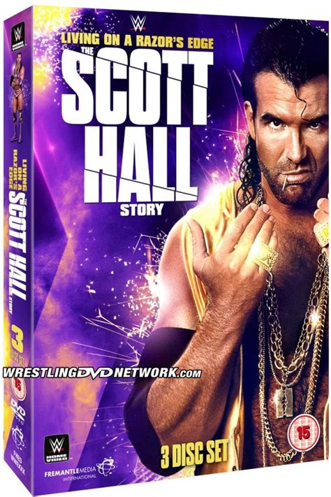 wwe biography dvds list revealed cover artwork for wwe scott hall living on a