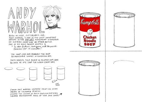 andy warhol biography for students warhol soup can sub lesson mere pictures pinterest