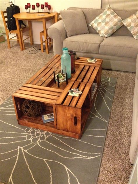 Wine Crate Coffee Table Diy Livingston Way Diy Wine Crate Coffee Table