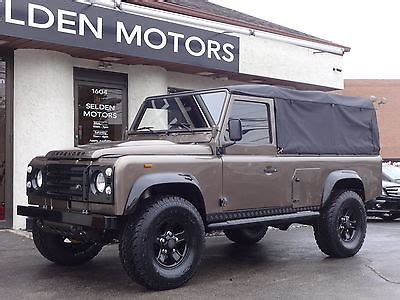 land rover defender convertible for sale 1990 land rover defender 110 convertible for sale