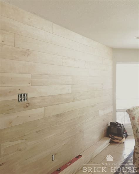 How To Create A Shiplap Wall Shiplap Walls The Cheap Easy Way Brick House