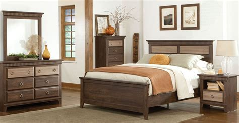 two tone bedroom furniture weatherly textured two tone panel bedroom set 681 52 60
