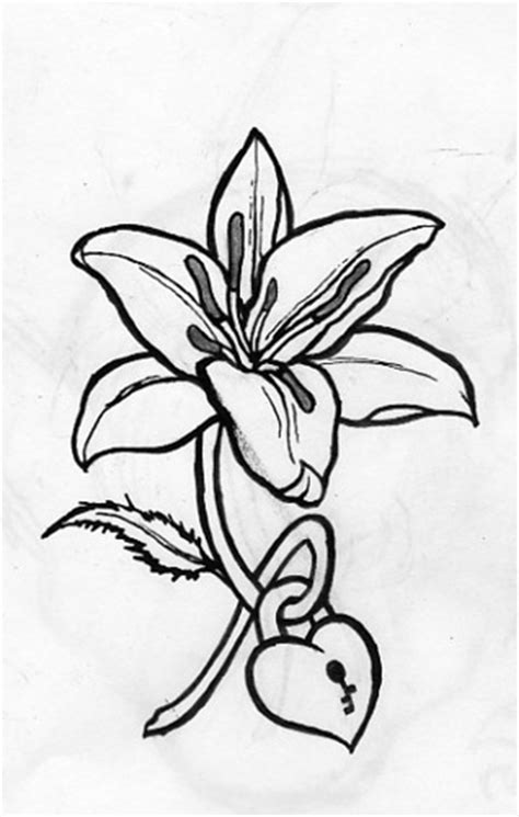 lily tattoo a tattoo i drew up for my friend rebekah 02