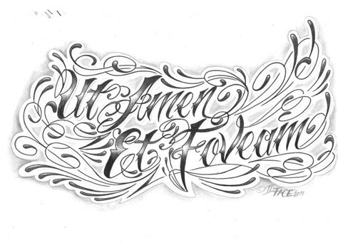 tattoo fonts latin chicano letter надписи