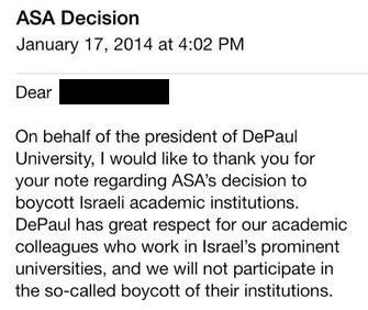 certification letter regarding the boycott with israel statements rejecting academic boycott of israel