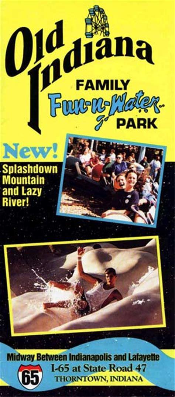Theme Park Brochures Old Indiana Fun Park Theme Park Brochures