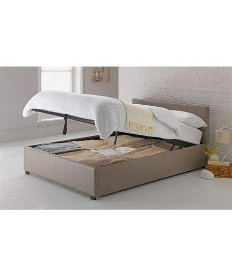 argos hygena bedroom furniture hygena montgomery kingsize ottoman bed frame latte at
