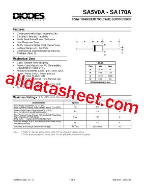 in5402 diode datasheet pdf sa15a datasheet pdf diodes incorporated