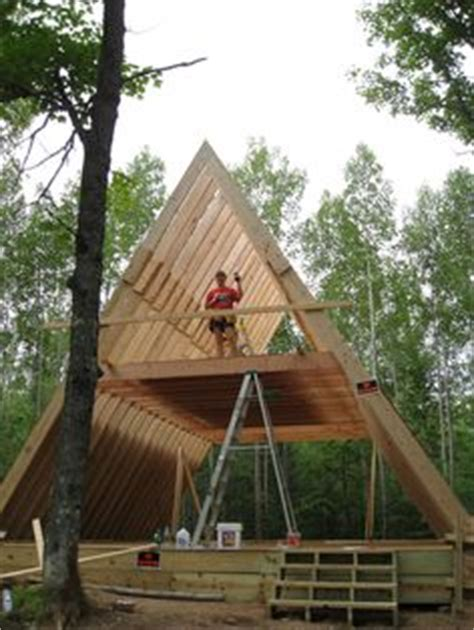 building an a frame house cabin kits a frame and cabin on pinterest