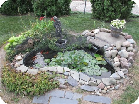 backyard decor backyard koi pond with lilly pad