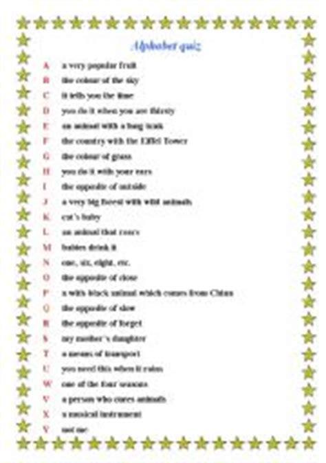 printable alphabet quiz english teaching worksheets quizzes