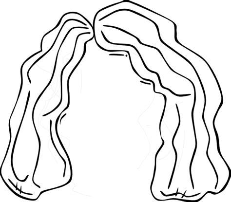 girl face outline clip art wig clip art at clker com vector clip art online