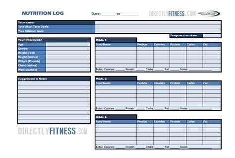 printable food log bodybuilding image gallery nutrition log