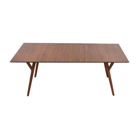 mid century expandable dining table elm 43 elm elm mid century walnut expandable