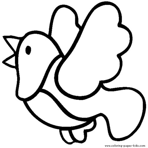 coloring pages simple animals simple to color bird color page